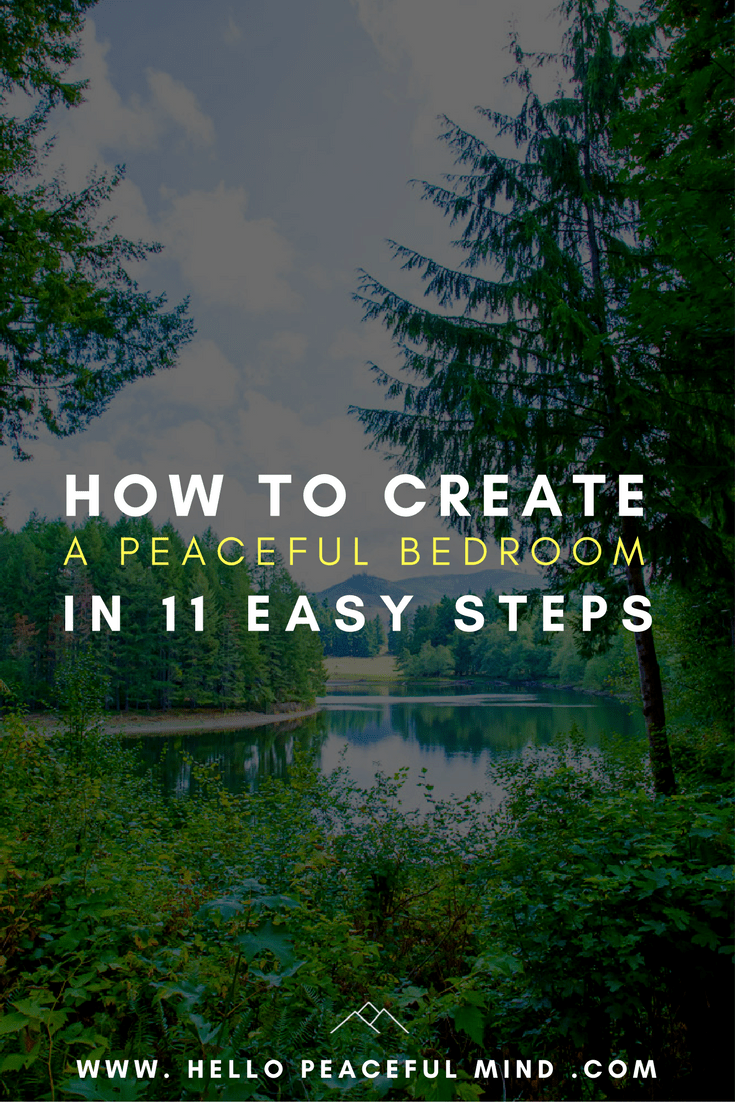 The ultimate guide to help you transform your bedroom into a peaceful retreat so you can have a better sleep! Read the full article on www.HelloPeacefulMind.com