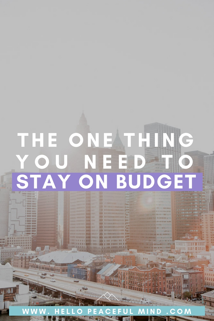 Discover how to easily track your money spending and stay on budget on www.HelloPeacefulMind.com