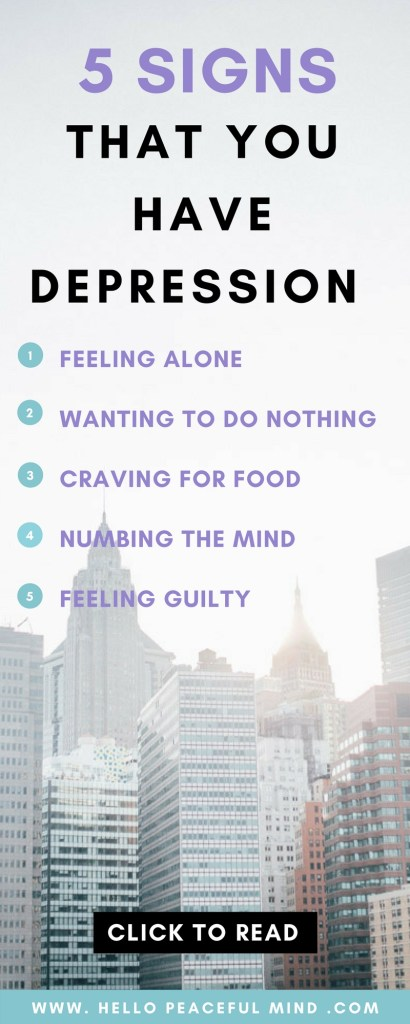 Discover how it feels to have depression and how you can deal with it on www.HelloPeacefulMind.com