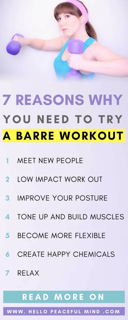 Find out what is a barre workout and why you need to try it on www.HelloPeacefulMind.com