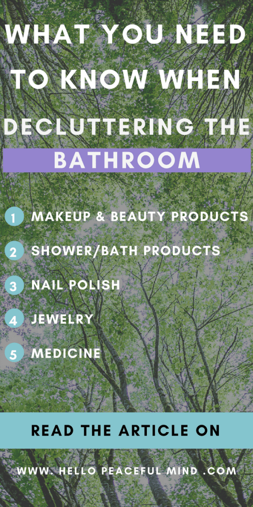 Do you want to declutter your bathroom? Here is how to do it efficiently! #decluttering #homeorganization