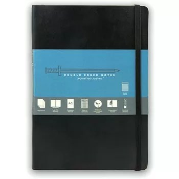 Double Edged Notes: Softcover Writing Notebook