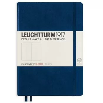 Leuchtturm Notebook A5 Medium Dotted Navy Blue