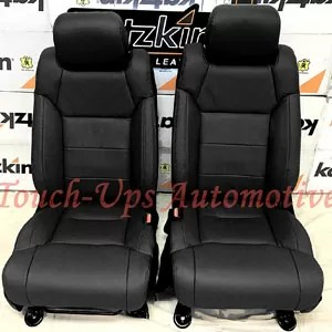 Toyota Tundra CrewMax KATZKIN Black Leather Seat Covers