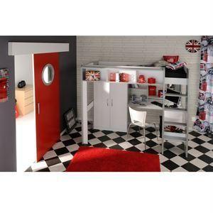 inuit lit combine mezzanine bureau armoire