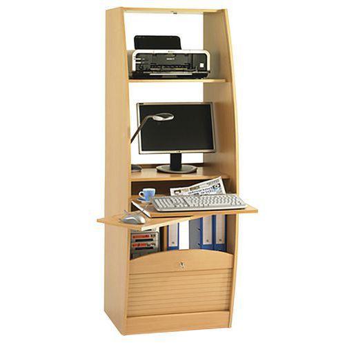 meuble multimedia solo largeur 60 cm hetre