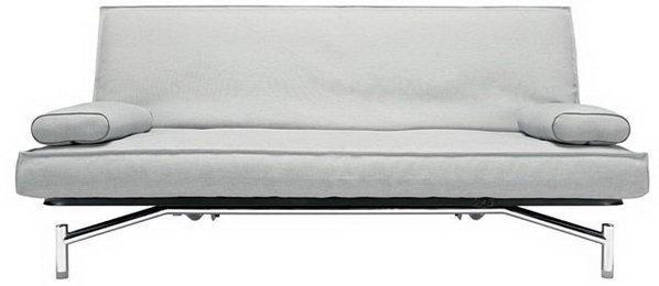 canape lit clic clac design spider gris clair convertible 200 140cm