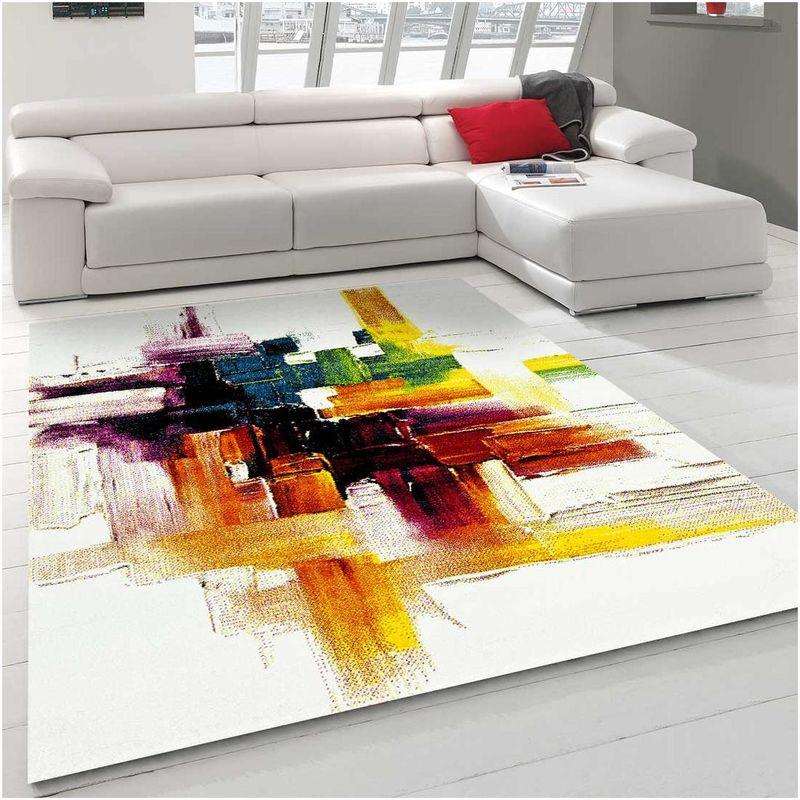 un amour de tapis tapis salon moderne design abstrait poils ras petit tapis salon rectangulaire tapis chambre turquoise tapis salon creme