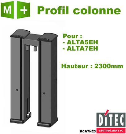 PROFIL ALUMINIUM COLONNE ALTA5EH ET ALTA7EH DITEC