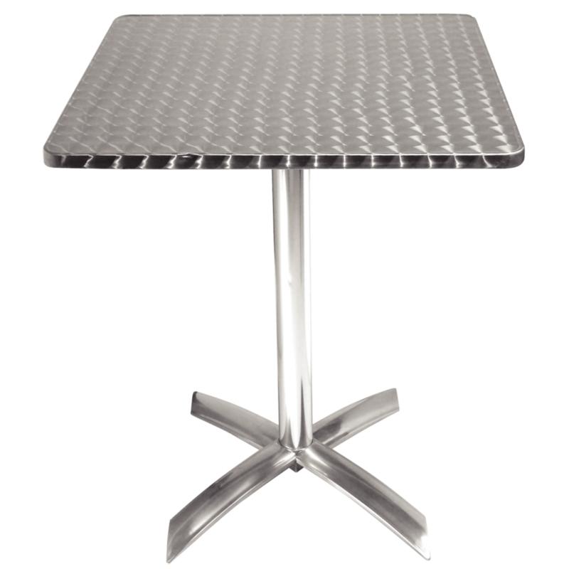table pliante carree en inox bolero 1