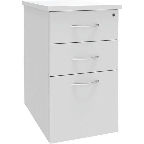 caisson hauteur bureau alma profondeur 60 cm coloris blanc