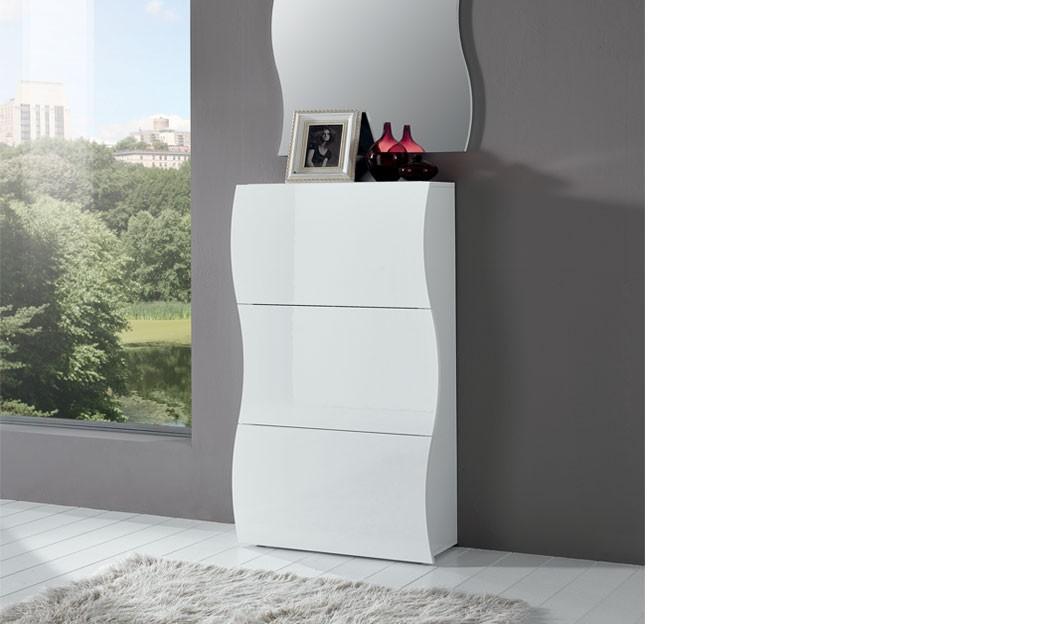 Stunning Meuble Chaussure Laque Blanc Conforama Range