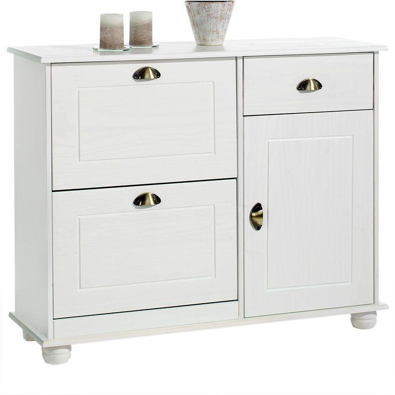 meuble a chaussures camille commode meuble de rangement avec 1 tiroir et 3 portes en melamine decor chene sonoma idimex