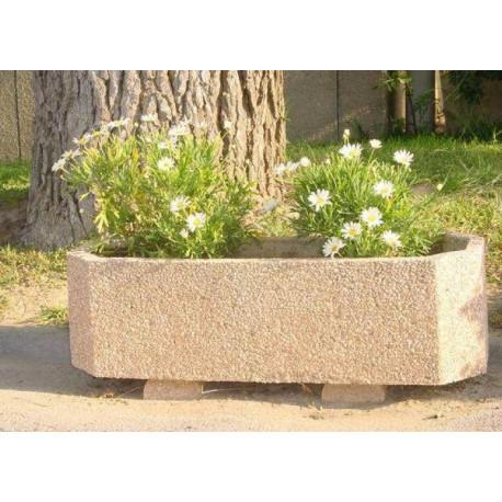 jardiniere de ville octogonale en beton