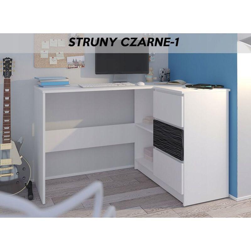 rex b bureau d angle avec rangements 3 tiroirs 112x87x76 cm table d ordinateur forme de l chambre coin bureau blanc noir blanc noir
