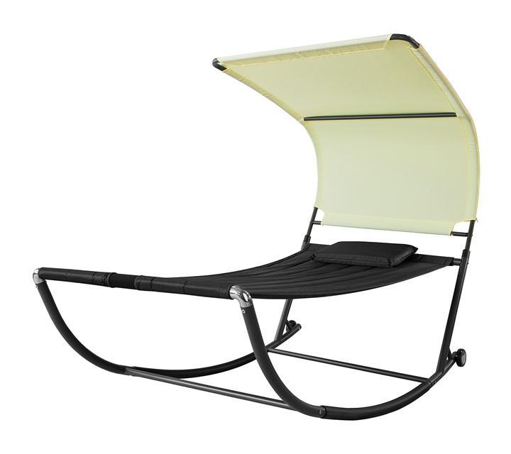 transat de jardin transat a bascule avec pare soleil et 2 roulettes chaise longue a bascule bain de soleil confortable rouge ogs44 sch sobuy