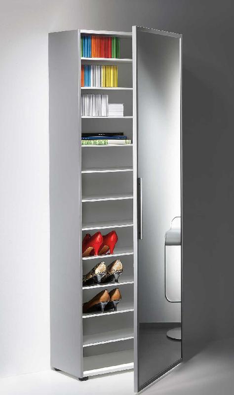 armoire a chaussures avec miroir large
