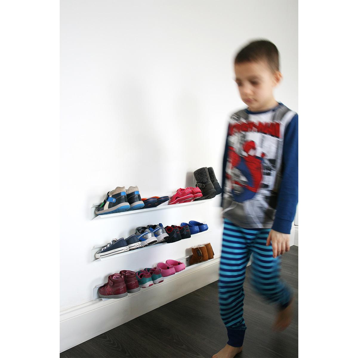 Range Chaussures Enfant 70 Cm Blanc