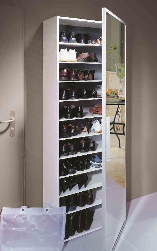 rangement chaussures miroir venus et