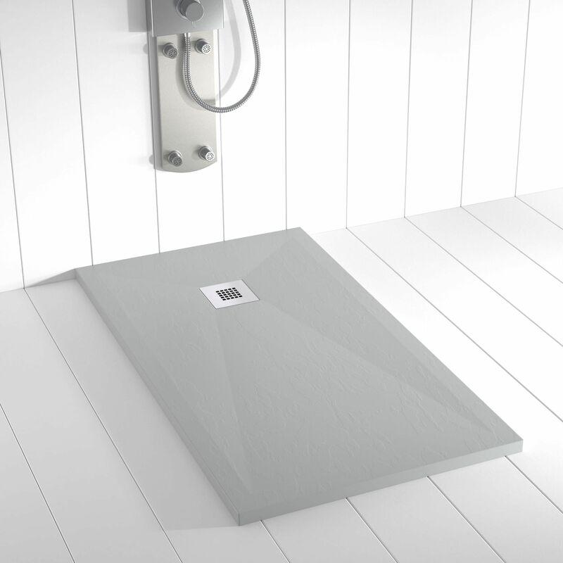 receveur de douche resine ples gris ral 7035 100x170 cm