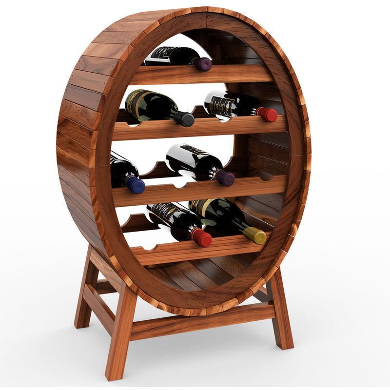 deuba casier cave a vin etagere a vin en bois d acacia oenologie porte bouteilles stockage 12 bouteilles look baril tonneau