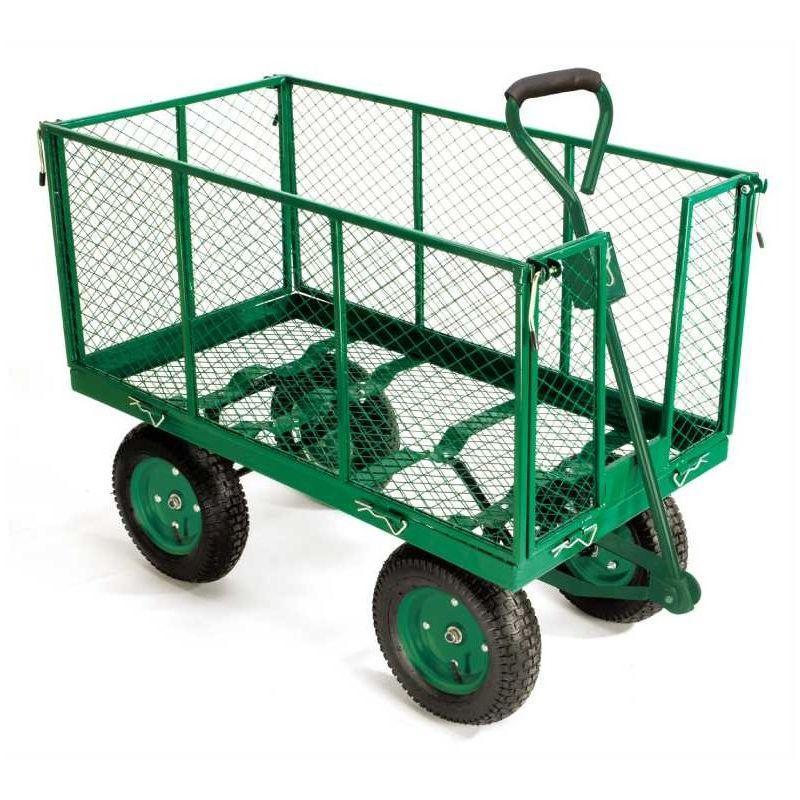 chariot de jardin pliable 2 roues avec housse ose