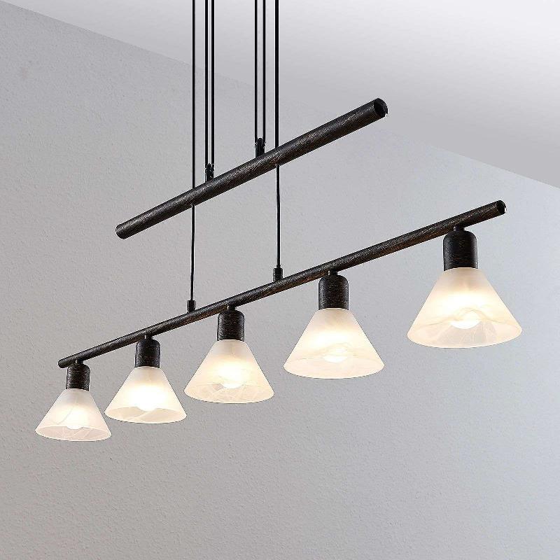 suspension delira 5 lampes hauteur