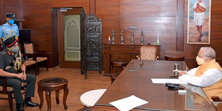 Lt Gen Bhinder's meeting with the Governor