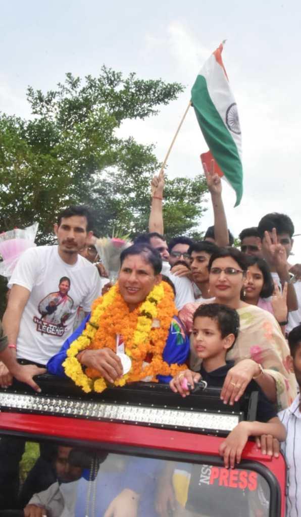 Rajasthan News, Tokyo 2020 Paralympic, Devendra Jhajharia, Jaipur News, Jaipur Airport,