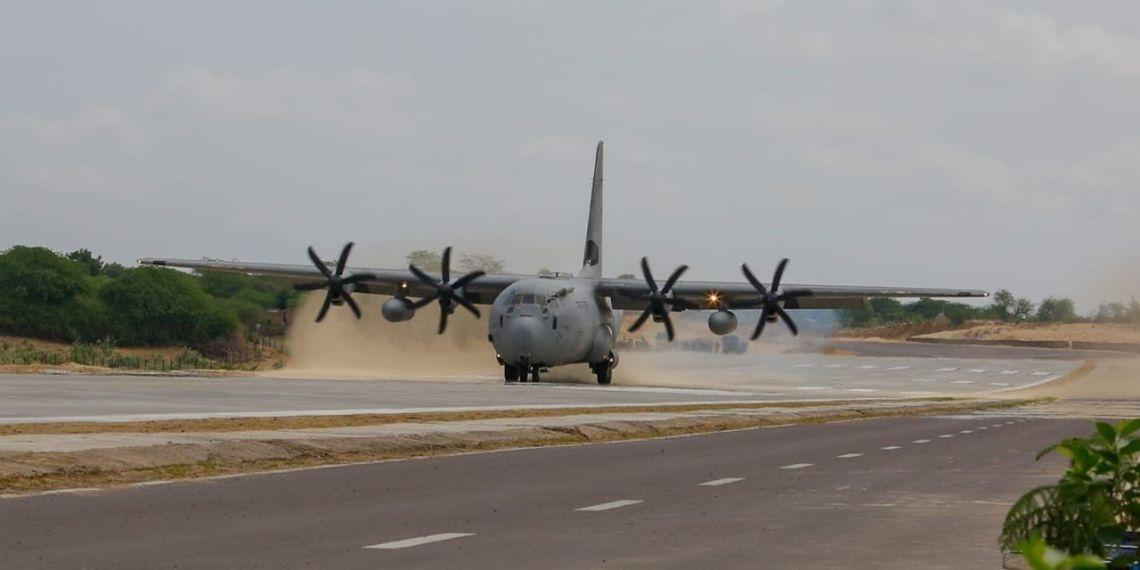 IAF, Indian Airforce, Emergency Landing Field, National Highway 925A, Barmer, Rajasthan, Jalore, Indian Air Force, Rajnath Singh, Nitin Gadkari, RKS Bhadauria, Bipin Rawat