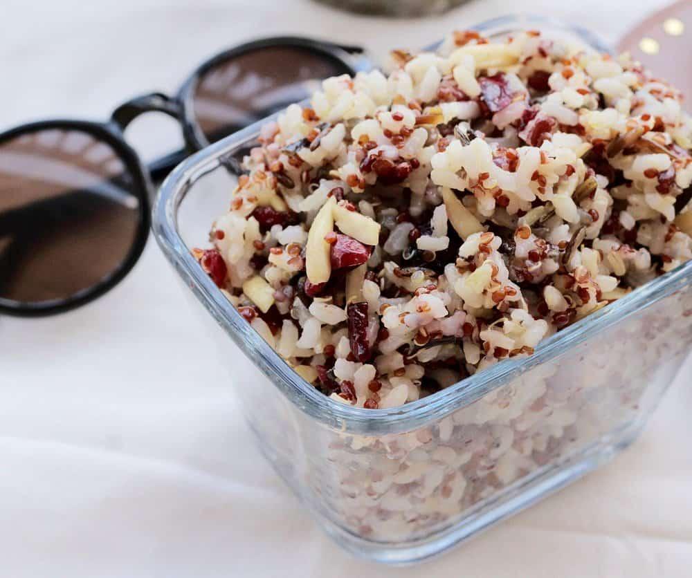 almond, cranberry quinoa salad