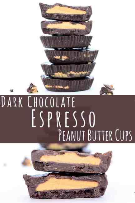 Dark Chocolate Espresso Peanut Butter Cups
