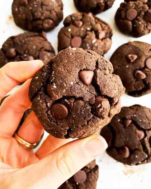 Vegan Double Chocolate Avocado Cookies