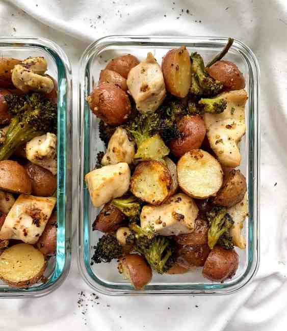 Healthy Lemon Pepper Chicken and Potatoes Sheet Pan Meal