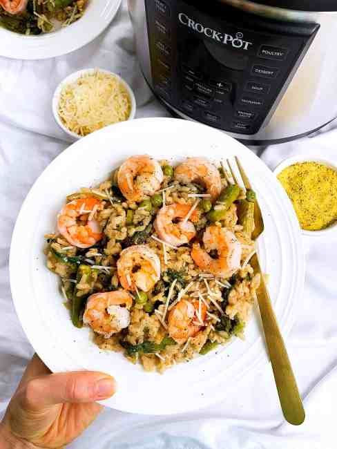 easy shrimp and risotto