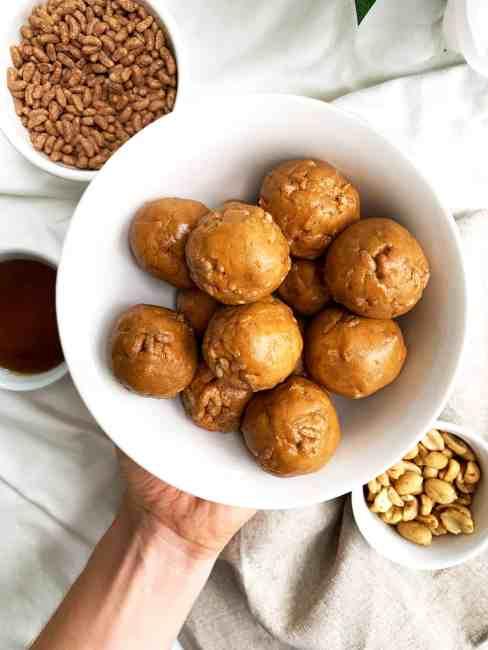 Gluten Free Crunchy Peanut Butter Balls