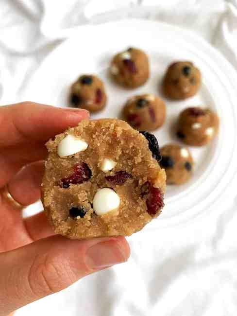 White Chocolate Peanut Butter Oatmeal Cookie Dough Balls