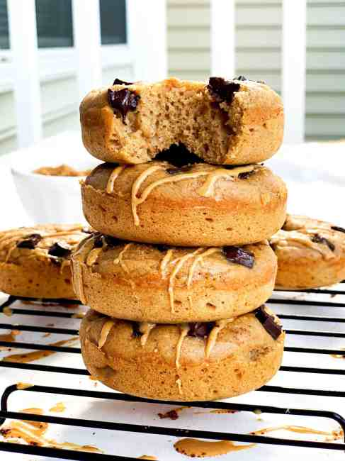 Healthy Banana Bread Chocolate Chunk Donuts