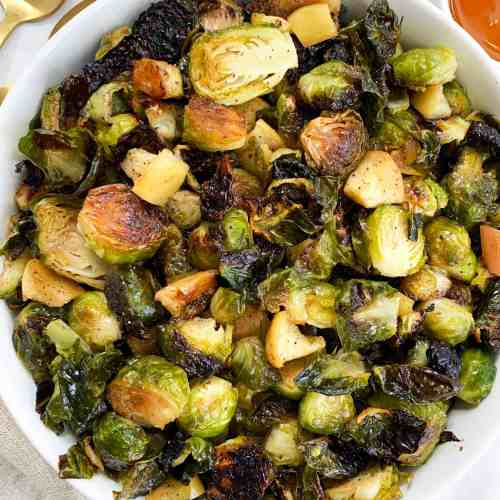 Honey Roasted Brussel Sprouts and Apples | 30 Minute Recipe