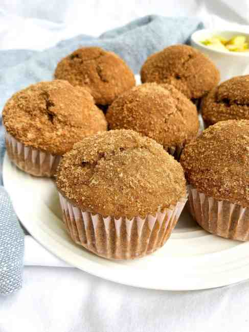 Healthy Whole Wheat Snickerdoodle Muffins