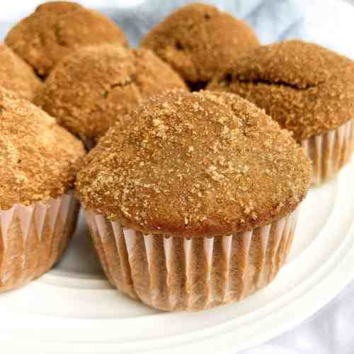 Healthy Snickerdoodle Muffins Made with Applesauce