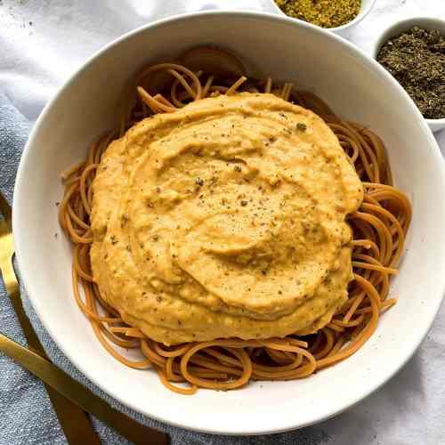 Creamy Vegan Sweet Potato Pasta Sauce in Under 30 Minutes