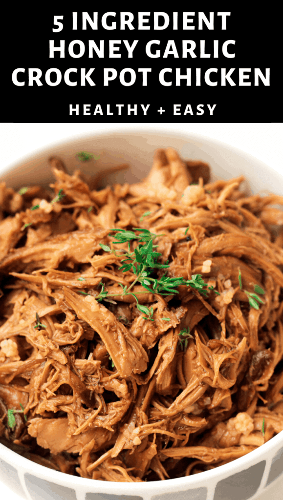 5 Ingredient Healthy Honey Garlic Crock Pot Chicken