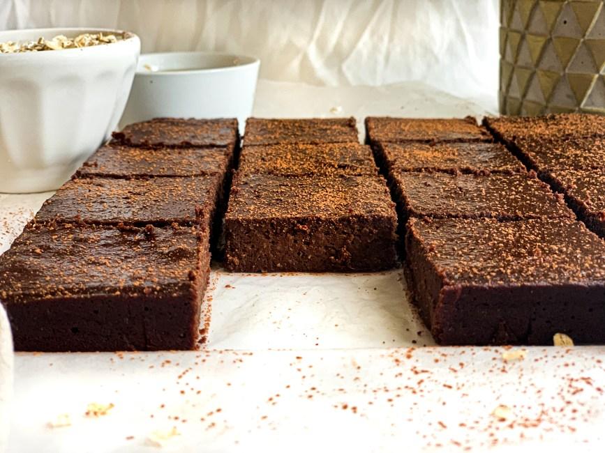 Fudgy Gluten-Free Date Brownies - Healthy, no added sugar brownie recipe