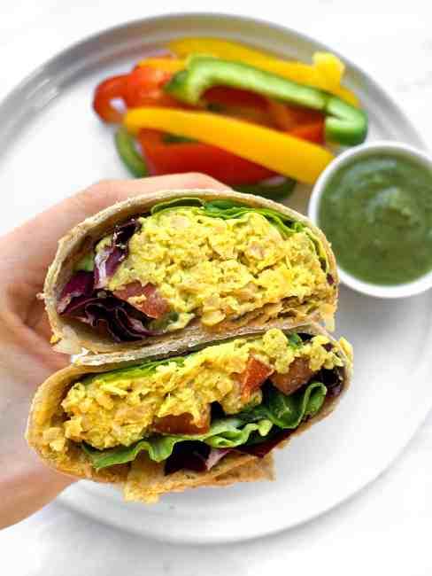 Vegan Smashed Chickpea Salad Wrap