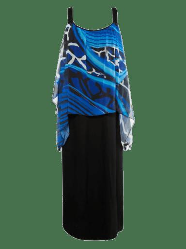 Ulla Popken chiffon layer beach dress