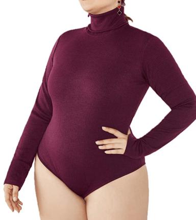IyMoo Long Sleeve Stretch Bodysuit | XL-6X