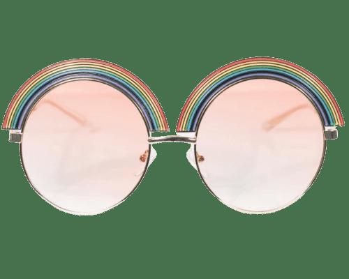 Golden Rainbow Rounded Sunglasses