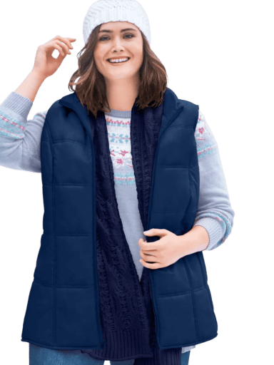 Woman Within Quilted Vest