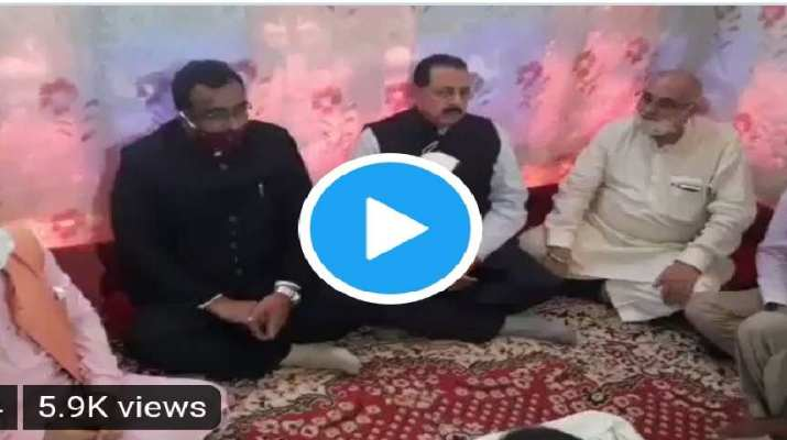 BJP General secretary, Minister to PMO and BJP State President visited Bandipora for condolences with late Waseem Bari's family 1